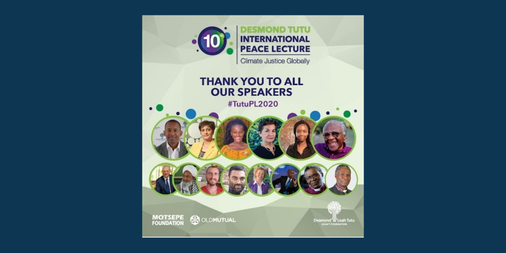 Curb Global Warming Now, Or Die – 10th Desmond Tutu International Peace Lecture